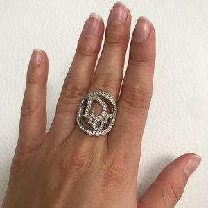Christian Dior Cannage Logo Cocktail Ring Size 5